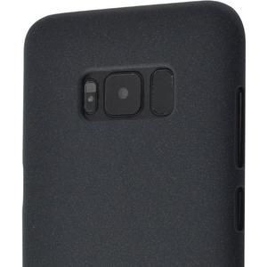 Azuri flexibele cover met sand texture - zwart - voor Samsung Galaxy S8