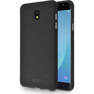 Azuri flexible cover met zand textuur - zwart - voor Samsung Galaxy J7