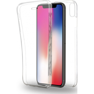 Azuri full cover - Front & Back TPU ultra thin - transparant - voor iPhone X/Xs