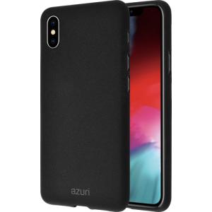 Azuri flexible cover with sand texture - zwart - voor iPhone Xs Max