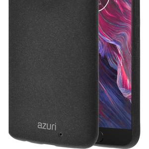 Azuri flexible cover voor Motorola Moto Z2 Play with sand texture - zwart