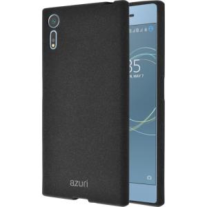 Azuri   flexible cover voor Sony Xperia XZs  with sand texture - zwart