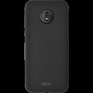 Azuri flexible cover voor Motorola G7 Play with sand texture - zwart