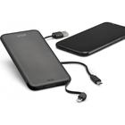 Azuri slim batterypack for microUSB, USB-C and lightning devices-5000 mAh-zwart