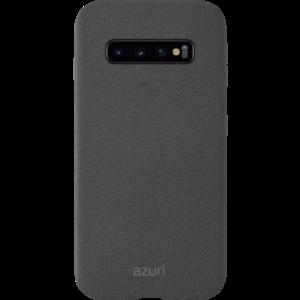 Azuri voor Samsung Galaxy S10 flexible cover met zand textuur - grijs