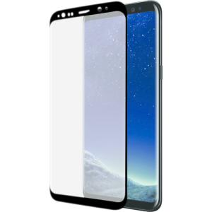 Azuri voor Samsung S8 Plus Curved Tempered Glass RINOX ARMOR - zwart