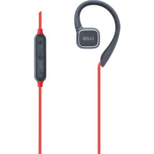 Azuri true wireless twin BT oortelefoon met earhook sport 1 - rood