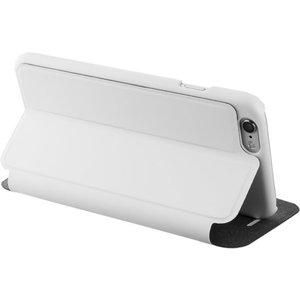 Azuri booklet ultra dun met staanfunctie - Apple iPhone 6;Apple iPhone 6S - wit