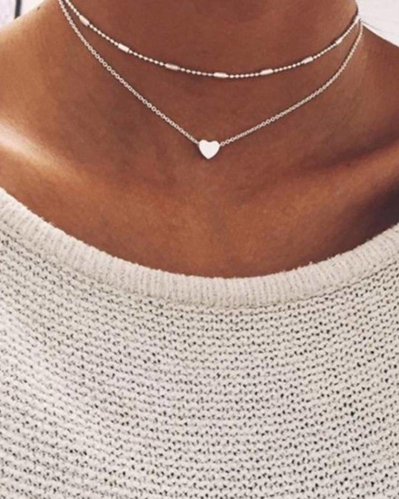 Fashion-Click Choker  Double Set Hartje