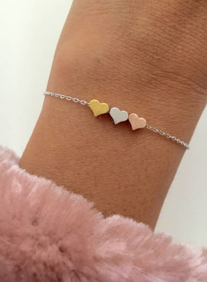 Armband 3 Hearts