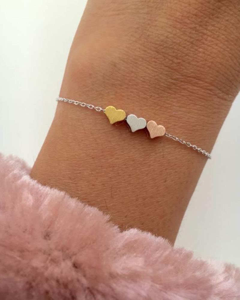 Fashion-Click Armband 3 Hearts