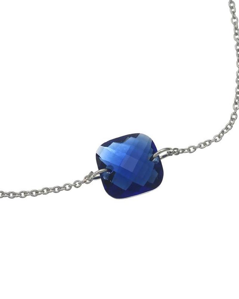 Fashion-Click Armband Blue Stone