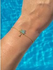 Syboni Armband  Blue Palmtree