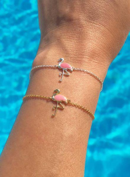 Fashion-Click Armband  Pink Flamingo