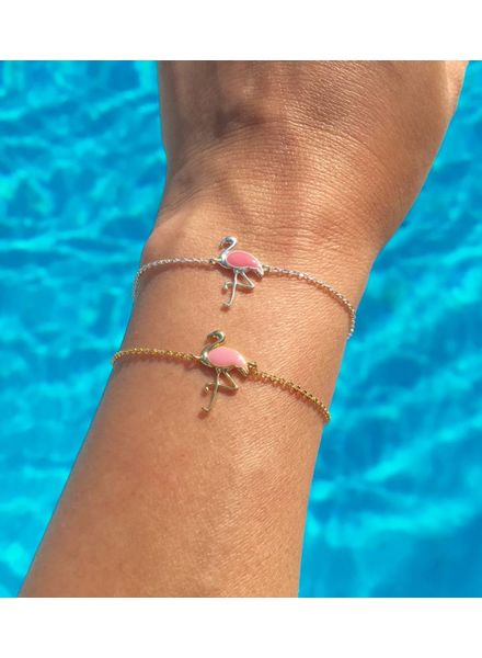Fashion-Click Armband  Pink Flamingo
