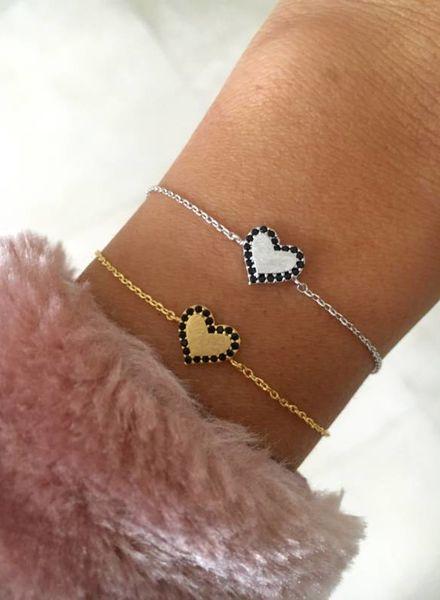 Fashion-Click Armband Heart Stones