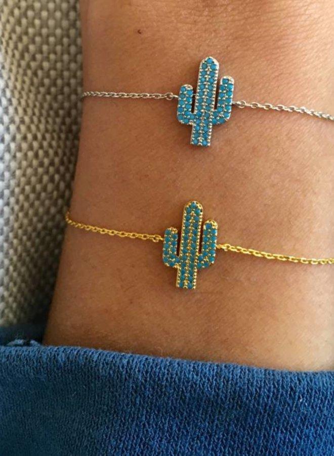 Armband  Blue Cactus