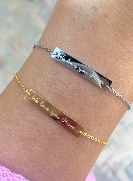 "Fashion-Click Armband  ""We Love You Mom"""