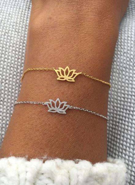 Fashion-Click Armband Lotus Bloem