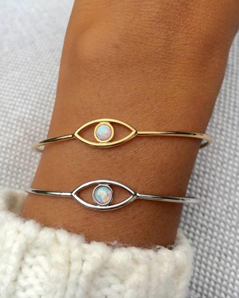 Fashion-Click Armband White Eye