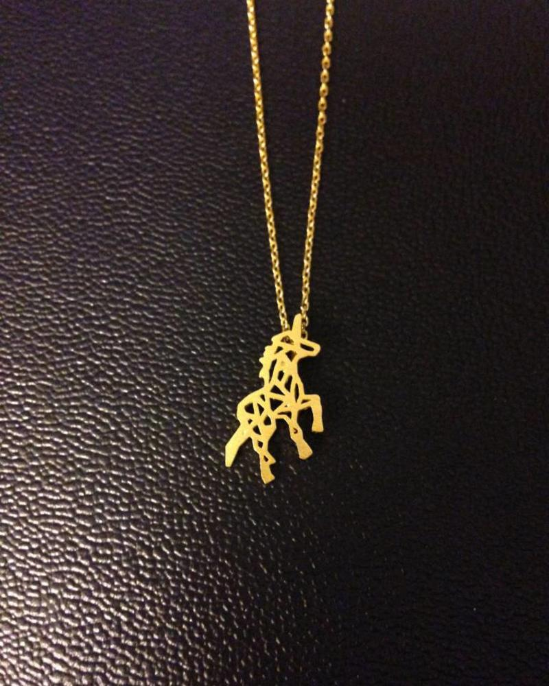 Fashion-Click Ketting Unicorn