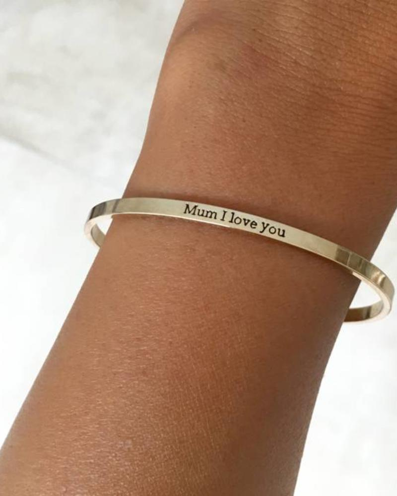 "Fashion-Click Armband ""Mum I Love You"""