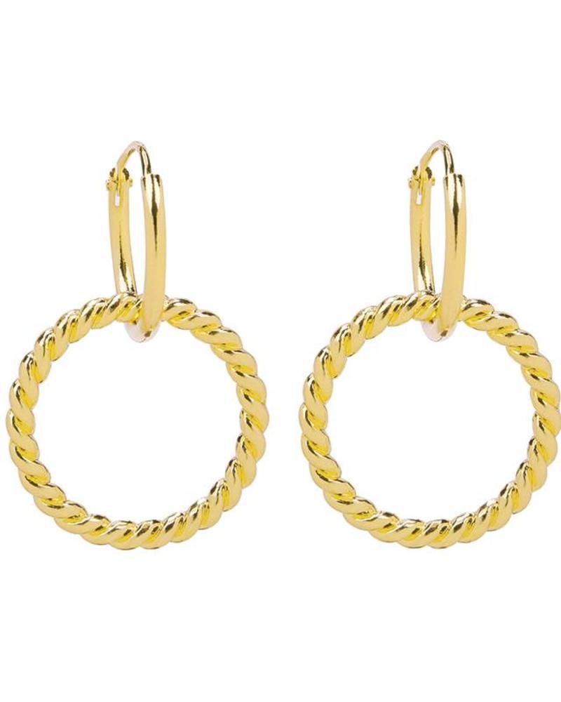 Fashion-Click Oorbellen Twsited Hoops