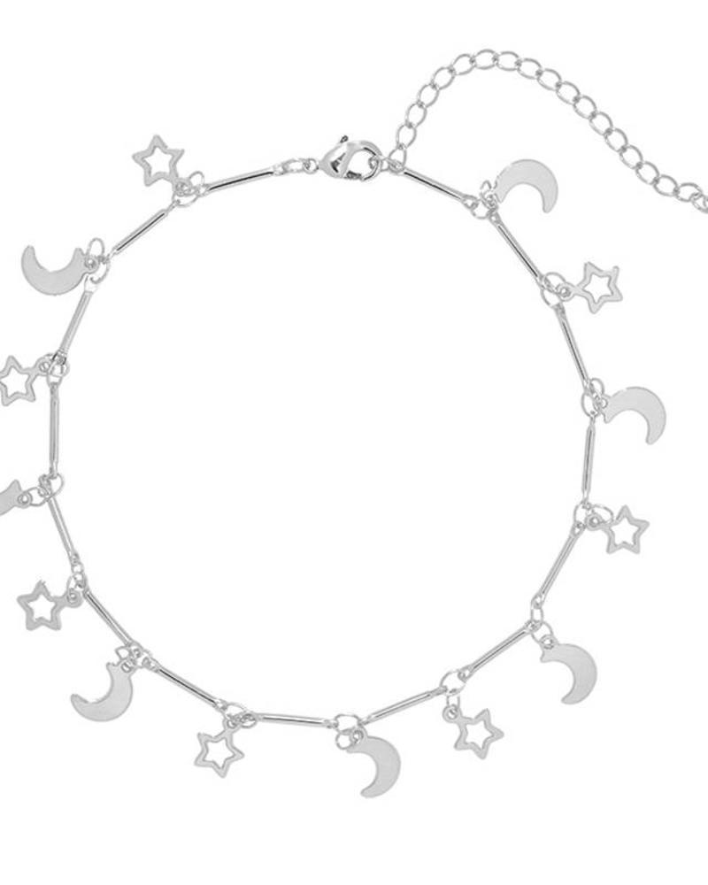 Fashion-Click Enkelbandje Star & Moon