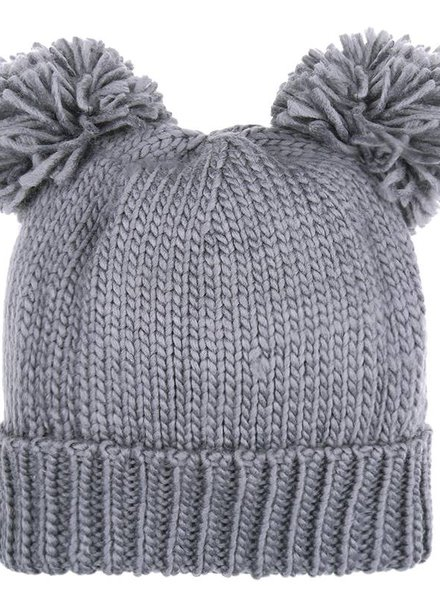 Fashion-Click Beanie Bear Grey