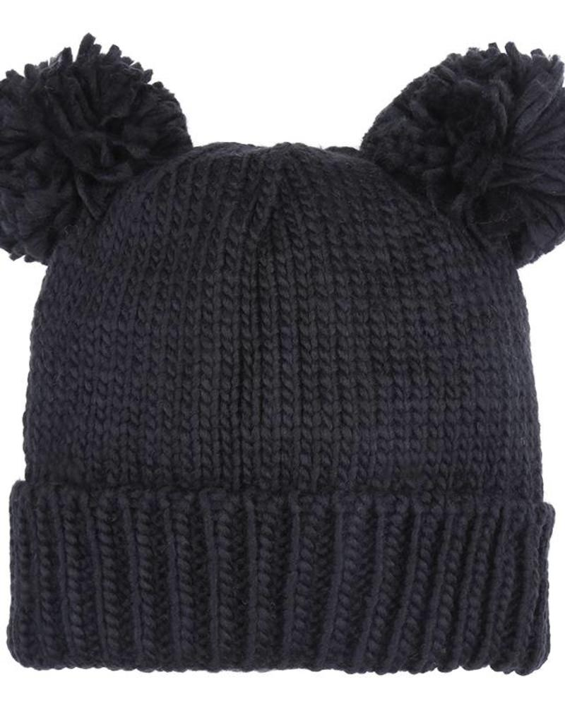 Fashion-Click Beanie Bear Black