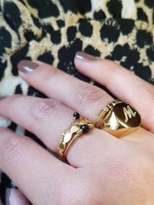 Fashion-Click Initial Zegelring Goud