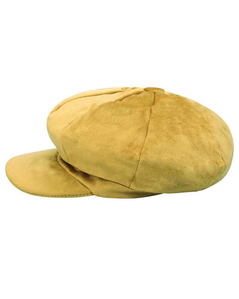 Fashion-Click Velvet Cap Yellow