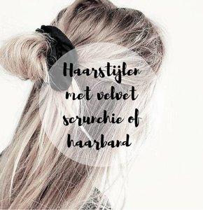 4 How-to trendy haarstijlen met velvet scrunchie of haarband