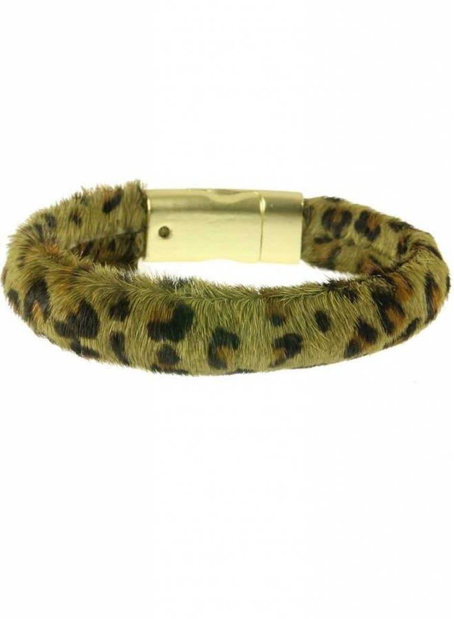 Armband Hairy Leopard Green