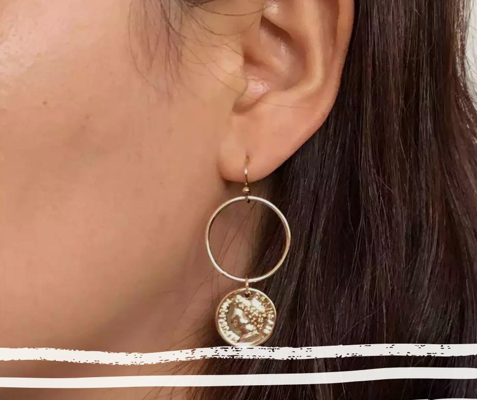 oorbellen hoops coin