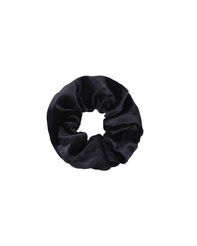 Fashion-Click Scrunchie Black Velvet