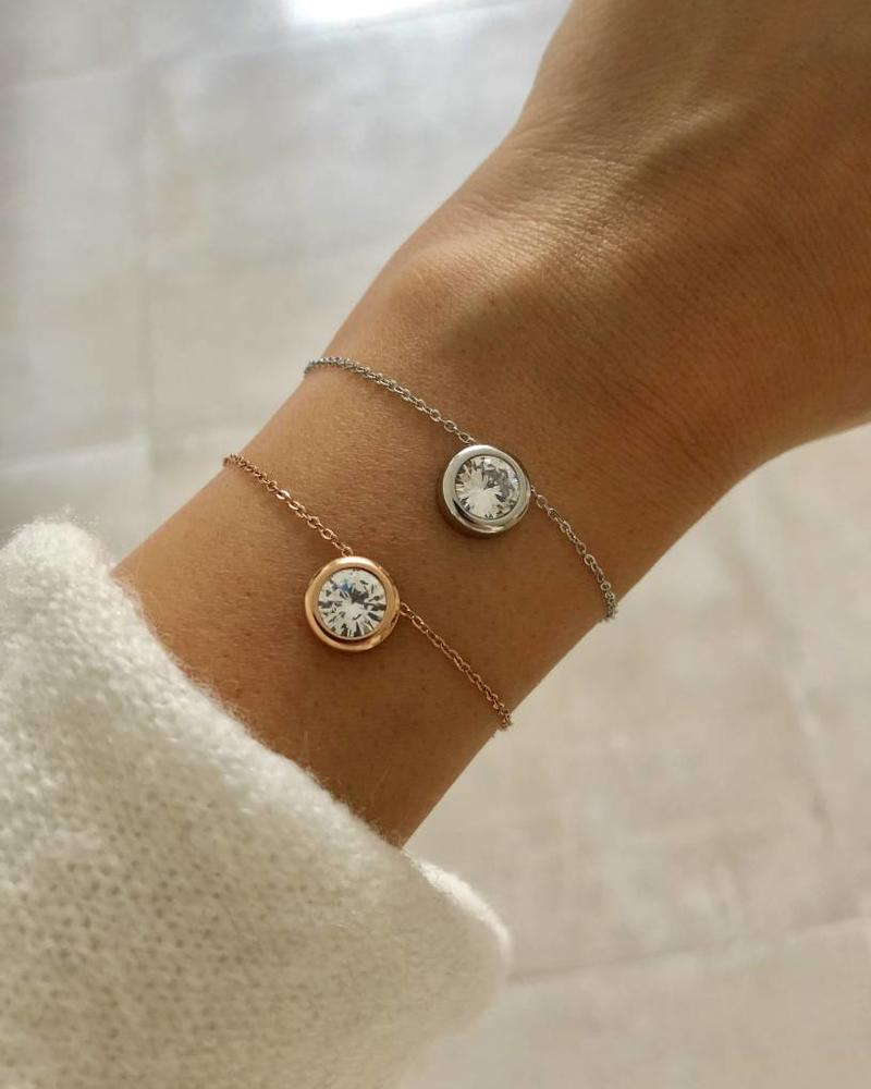 Fashion-Click Armband Big Stone