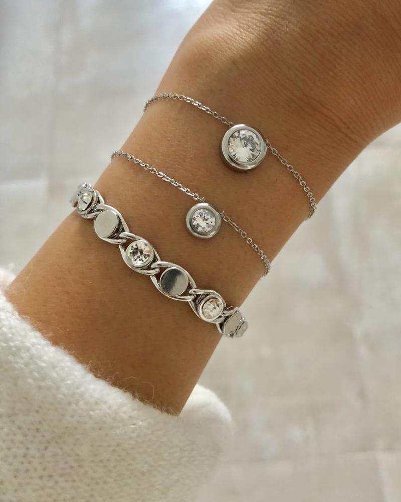 Fashion-Click Armband Small Stone