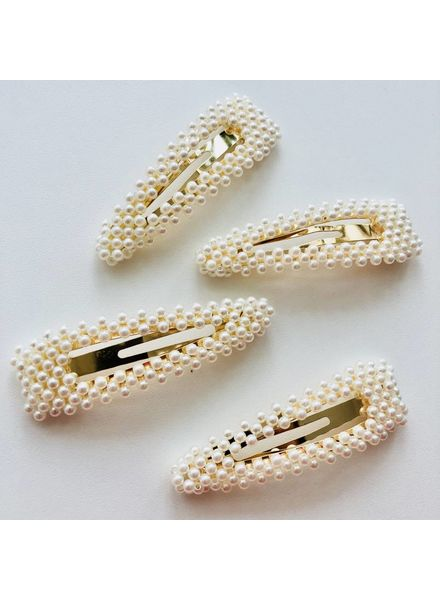 Fashion-Click Hairclip Fancy Pearls