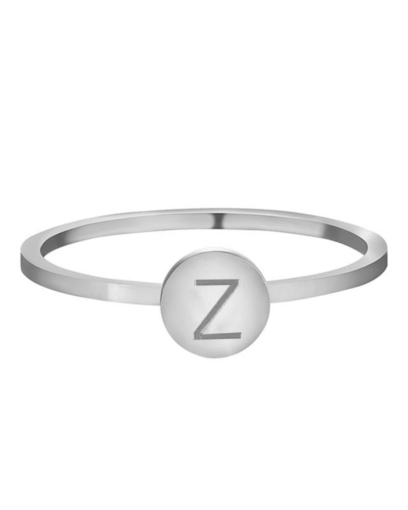 Fashion-Click Ring Initial Zilver