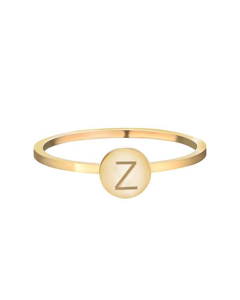 Fashion-Click Ring Initial Goud