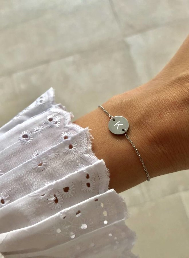 Armband Own Letter Zilver