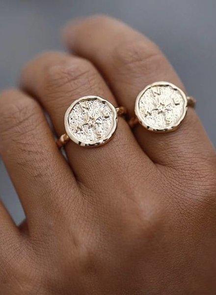 Fashion-Click Ring Vintage Kompas