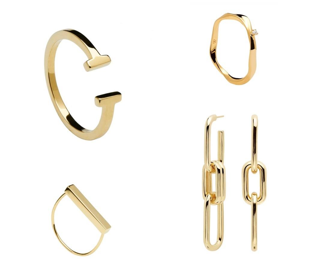 pd paola sieraden gouden ring en oorhanger