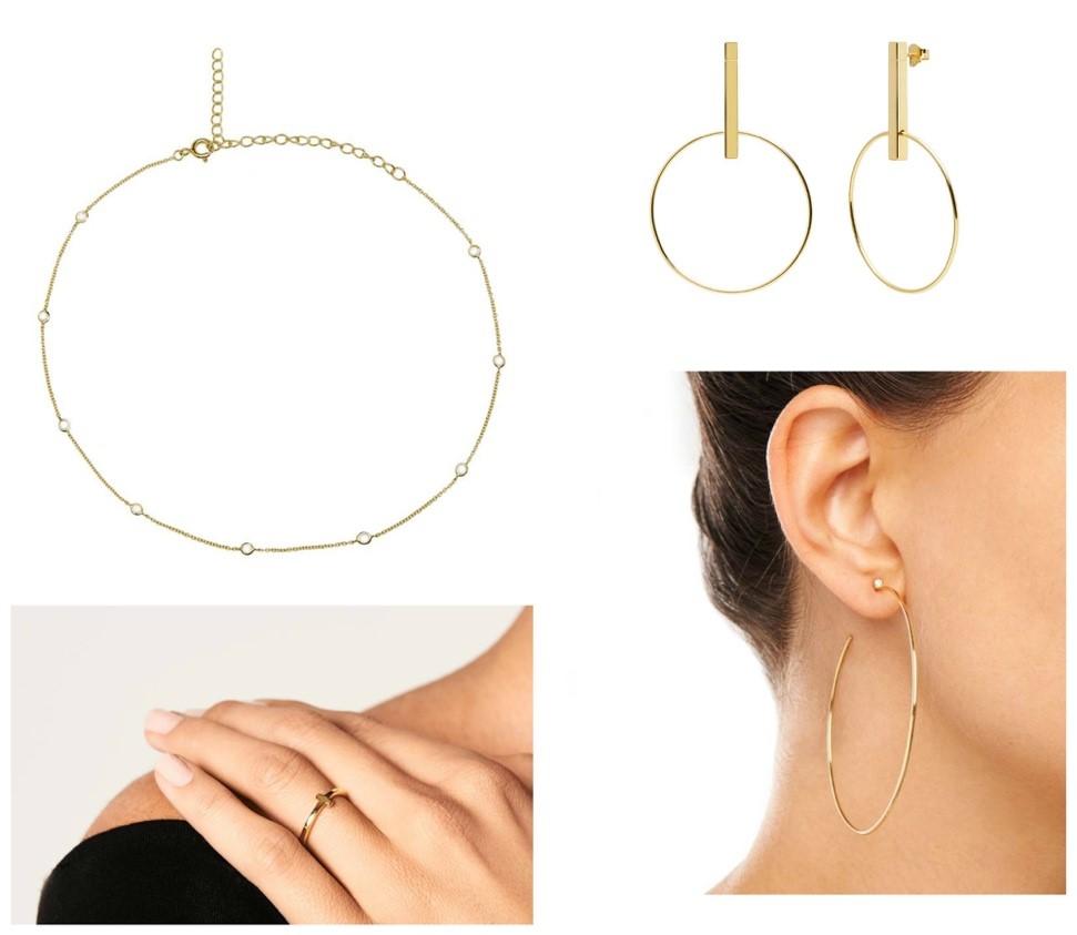 pd paola sieraden gouden armband oorbellen hoops en ring