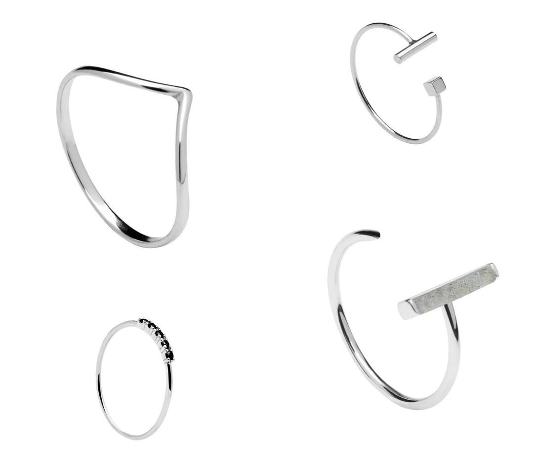 pd paola minimalistische ringen zilver