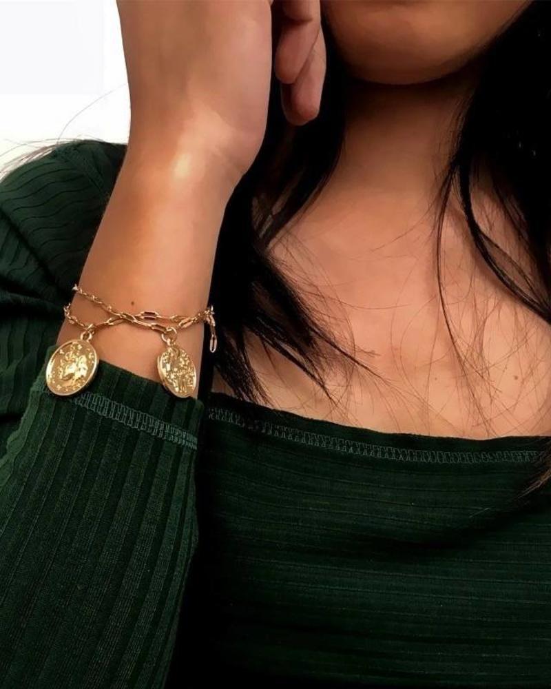 Fashion-Click Armbandjes Vintage Coins