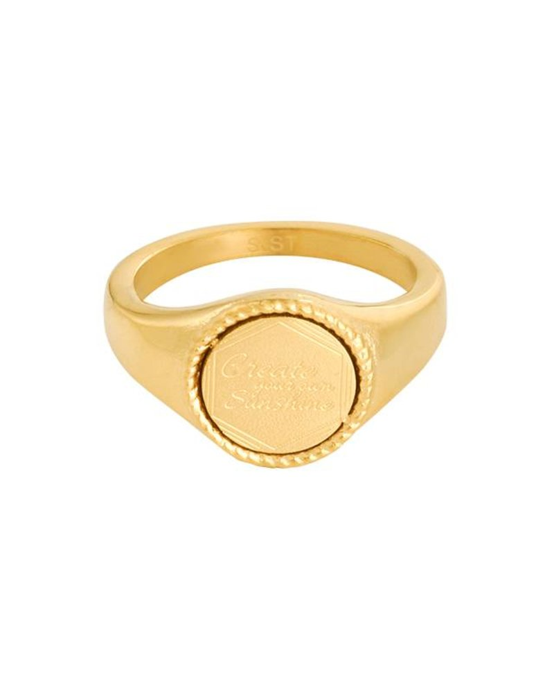 Fashion-Click Signet Ring Create Your Own Sunshine