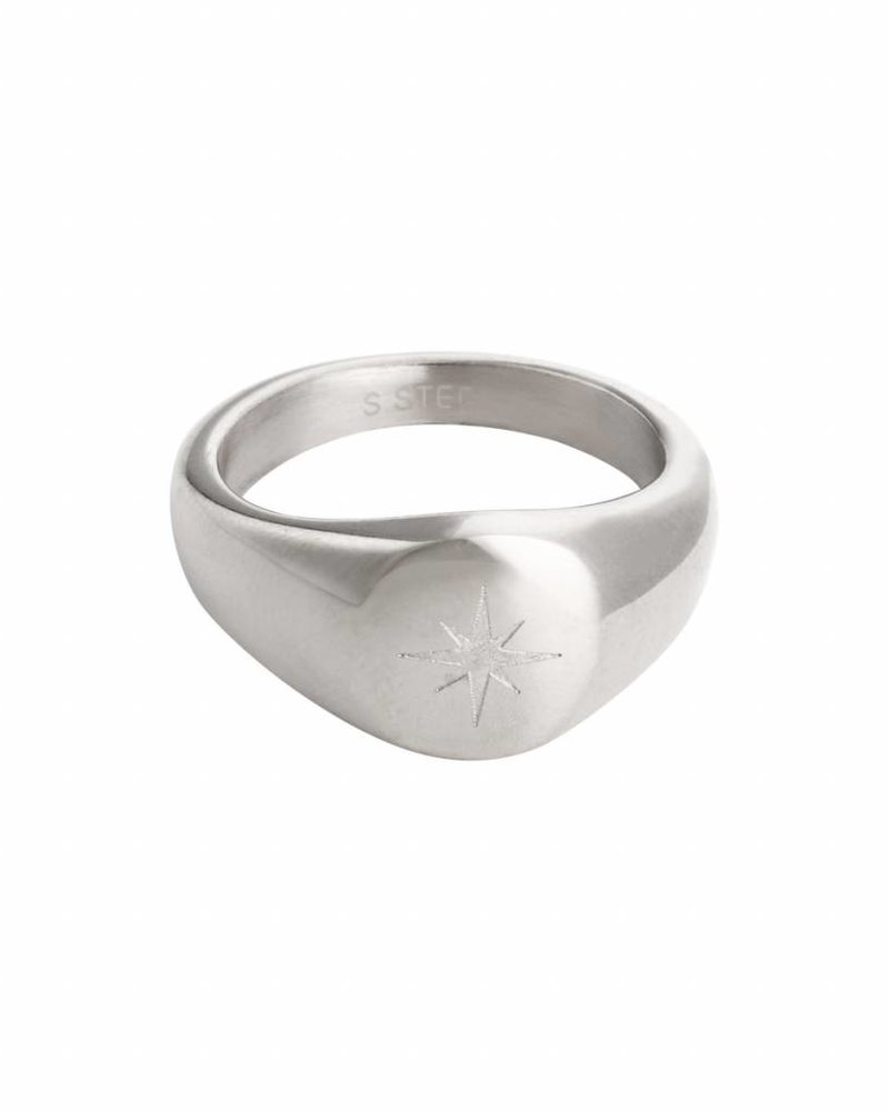Fashion-Click Signet Ring Night Star