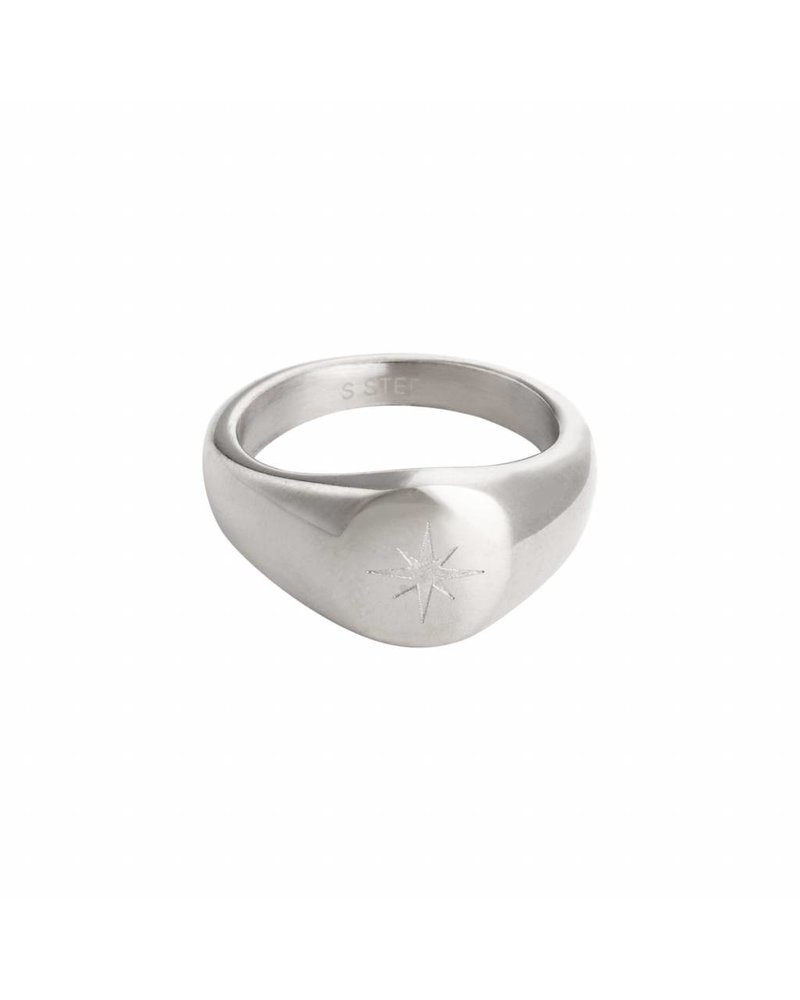 Fashion-Click Signet Ring Night Star